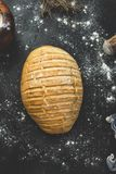 Freshly made bread with rustic style royalty free stock photos