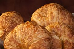 Freshly made breads croissant served for breakfast Royalty Free Stock Photo