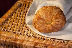 Freshly made breads croissant served for breakfast Stock Image