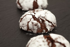 Freshly made chocolate biscuits Royalty Free Stock Photography