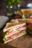 Freshly made clubsandwich Royalty Free Stock Images