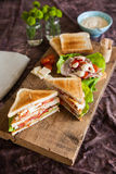 Freshly made clubsandwich Royalty Free Stock Photography