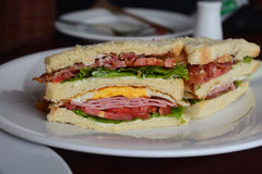 Freshly made clubsandwiches Royalty Free Stock Images
