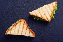 Freshly made clubsandwiches Royalty Free Stock Photo
