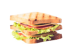 Freshly made clubsandwiches Royalty Free Stock Photography