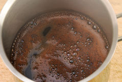 Freshly made coffee in a coffee pot Royalty Free Stock Image