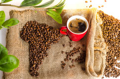 Freshly made coffee in the morning vintage style Royalty Free Stock Photography