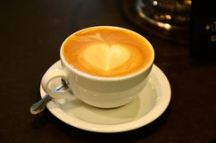 Freshly made espresso coffee Stock Images