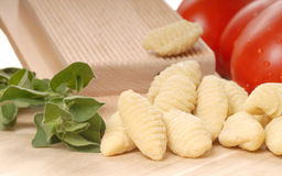 Freshly made Gnocchi using a Gnocchi board Stock Images