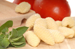 Freshly made Gnocchi using a Gnocchi board Royalty Free Stock Images