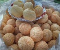 Freshly made gol gappe or pani puri royalty free stock image