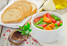 Freshly made healthy vegetable soup Royalty Free Stock Images