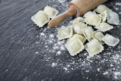 Freshly Made Homemade Ravioli Royalty Free Stock Photography