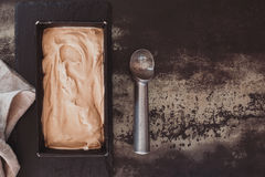 Freshly made ice cream ready to be served Stock Photos