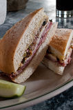 Freshly made muffaletta Royalty Free Stock Photography