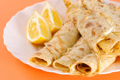Freshly Made Pancakes Stock Photography