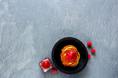 Freshly made pancakes Royalty Free Stock Photo