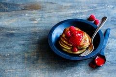 Freshly made pancakes Stock Photo