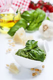 Freshly made pesto Stock Image