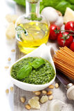 Freshly made pesto Stock Image