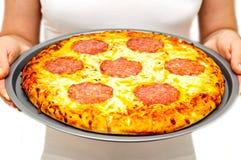 Freshly made pizza Royalty Free Stock Photo