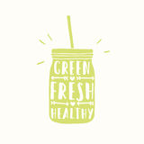 Freshly made with real fruits. Juice or smoothie Royalty Free Stock Photography