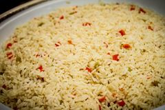 Freshly Made Rice Pilaf royalty free stock photo