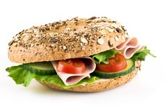 Freshly made sandwich Royalty Free Stock Image