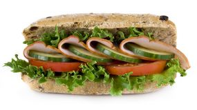 Freshly made sandwich Stock Images