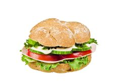 Freshly made sanwich Stock Images