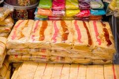 Freshly packed traditional Ecuadorian mecocha sugar sweets Royalty Free Stock Photo