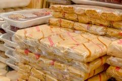 Freshly packed traditional Ecuadorian mecocha sugar sweets Stock Photography