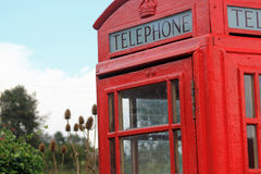 Freshly painted British telephone box Stock Image