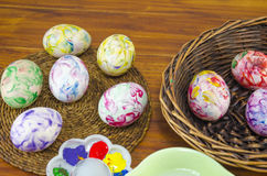 Freshly painted Easter eggs Stock Image