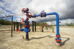 Freshly painted electric centrifugal pumps. Stock Photography
