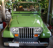 A freshly painted jeep in the caribbean Royalty Free Stock Photo