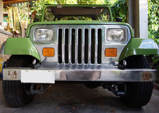 A freshly painted jeep in the caribbean Royalty Free Stock Images