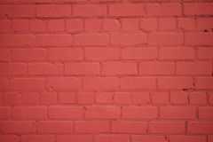 Freshly Painted Old Brick Wall Stock Photo