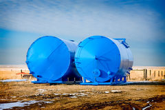 Freshly Painted Tanks Royalty Free Stock Images