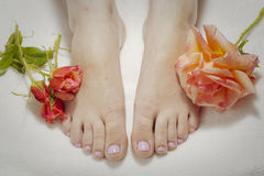 Freshly painted toenails Royalty Free Stock Photos
