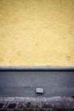 Freshly painted yellow wall Stock Photo