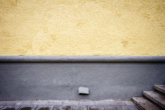 Freshly painted yellow wall Royalty Free Stock Photos