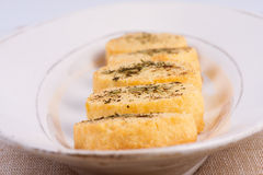 Freshly Parmesan cheese biscuits. Freshly baked Parmesan cheese biscuits with black pepper, mint and rosemary stock photo