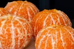 Freshly peeled mandarins Royalty Free Stock Photo