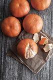 Freshly Peeled Tangerines Royalty Free Stock Photography