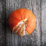 Freshly Peeled Tangerines Stock Images