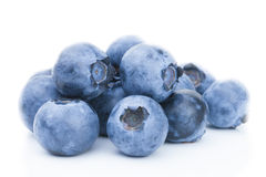 Freshly picked blueberries - close up studio shot Stock Image
