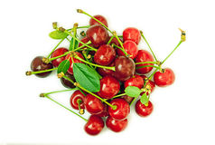 Freshly picked cherries Royalty Free Stock Images