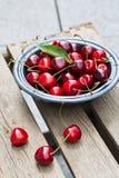 Freshly picked cherries Royalty Free Stock Image
