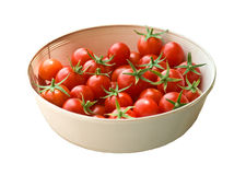Freshly Picked Cherry Tomatoes Stock Photo